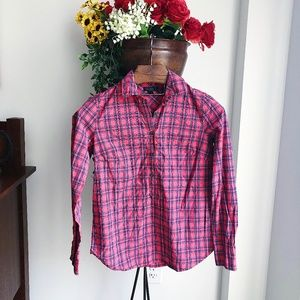 J. CREW PLAID BUTTON DOWN SHIRT